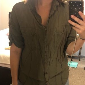 Olive Brandy Melville Button Down